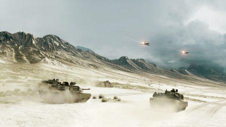 battlefield, tanks, mountains