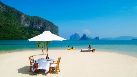 beach, sand, bench