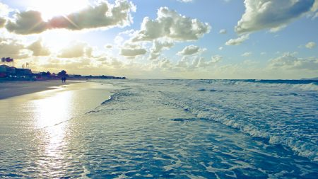 beach, sun, coast