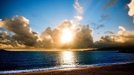 beach, sun, light
