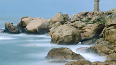 beacon, france, rocks