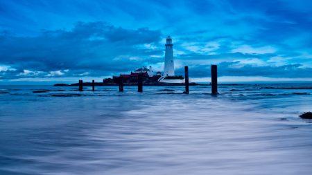 beacon, sea, stakes