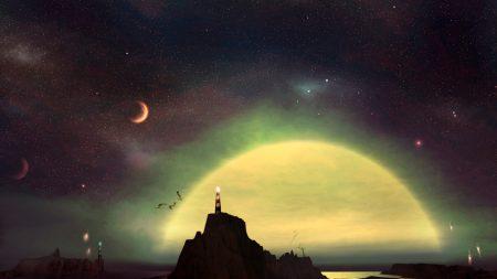 beacon, stars, sun