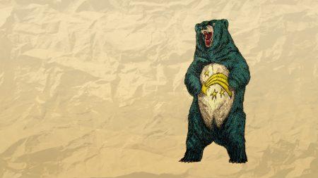 bear, paper, crumpled