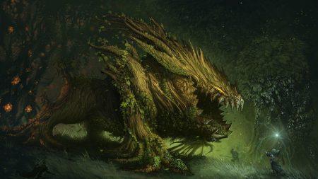 beast, tree, people