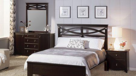 bed, bedside tables, furniture