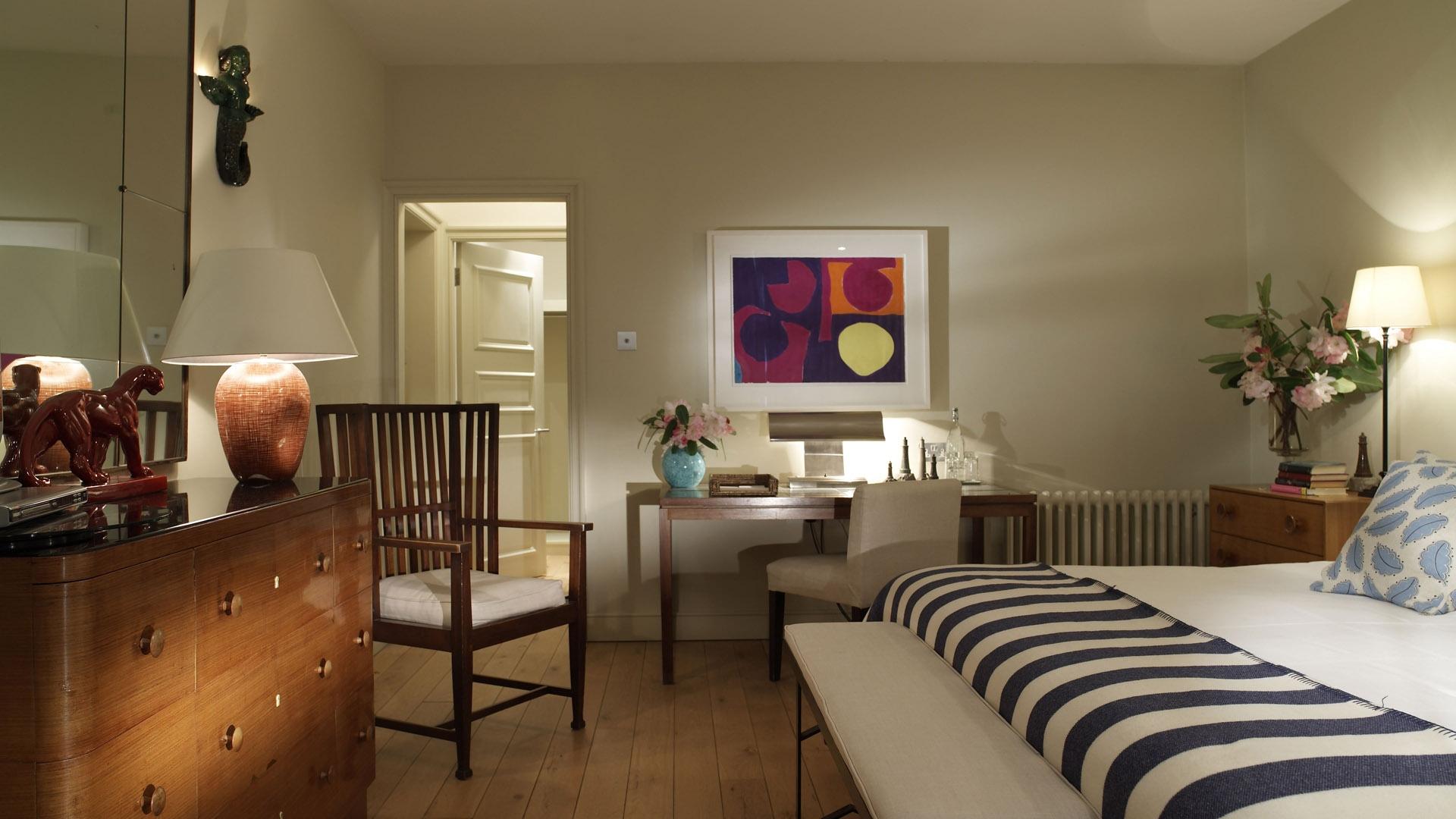 Download Wallpaper 1920x1080 bed, dresser, furniture ...