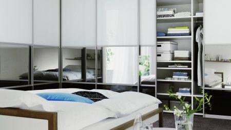 bedding, bedroom, closets
