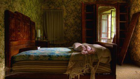 bedroom, antique, bed