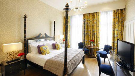 bedroom, bed, tv