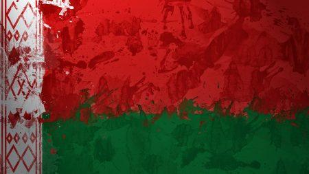belorussia, flag, paint