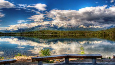 benches, coast, lake