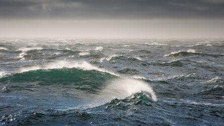 bering sea, waves, storm