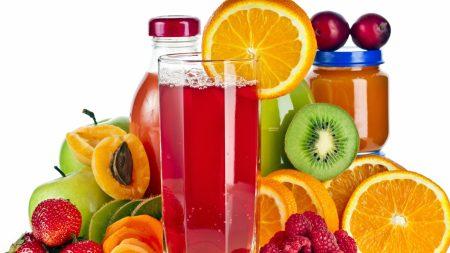 berries, fruit, juice