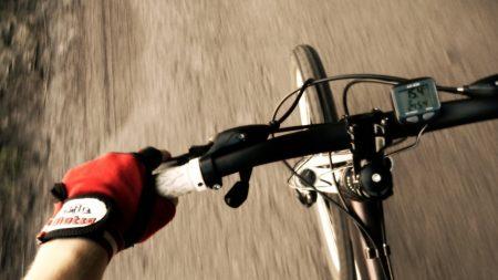 bicycle, steering wheel, sensor