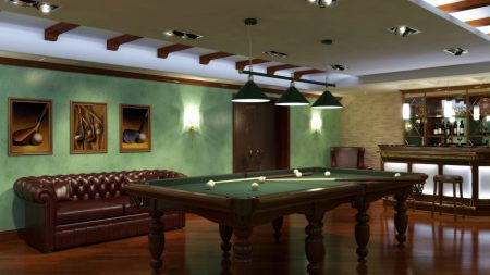 billiards, room, table