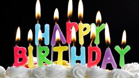 birthday, candles, pie
