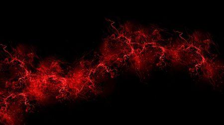 black background, red, color