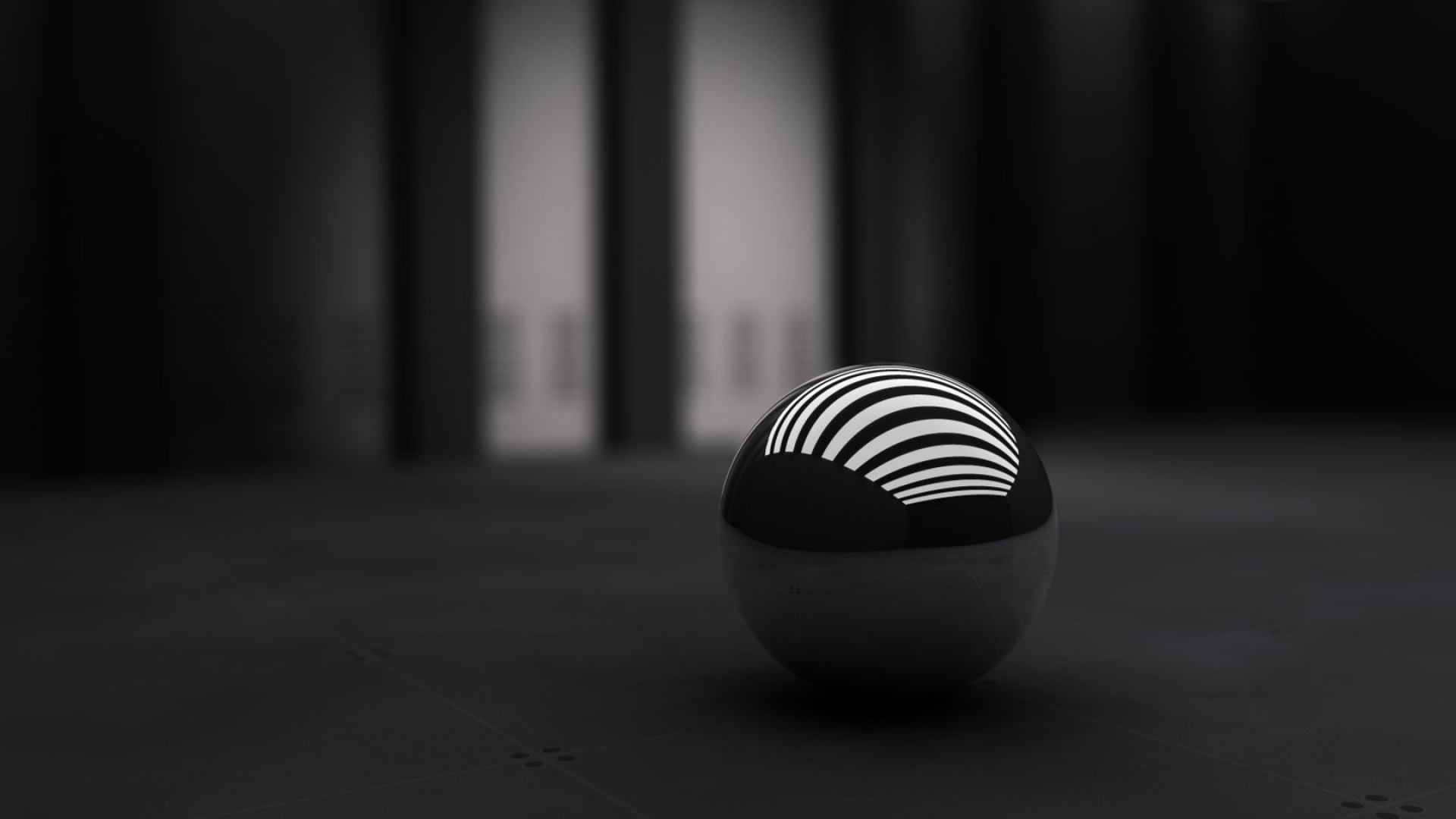 Download Wallpaper 1920x1080 Black Ball Band White Full Hd