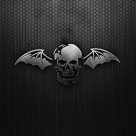 black, skull, wings
