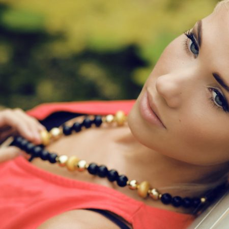 blonde, clothes, jewelry