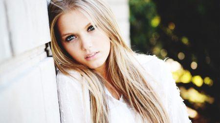blonde, face, hair