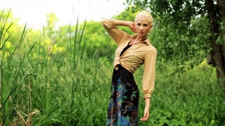 blonde, field, grass