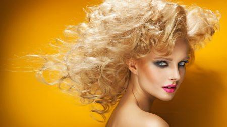 blonde, hair, face