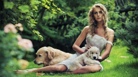 blonde, model, dress