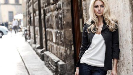 blonde, model, street