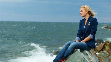 blonde, sea, surf