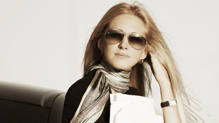 blonde, sunglasses, stylish