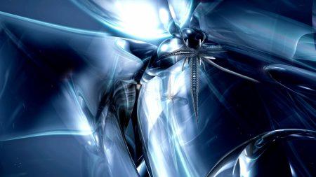 blue, metal, system