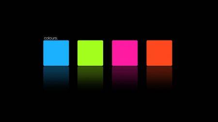 blue, pink, orange