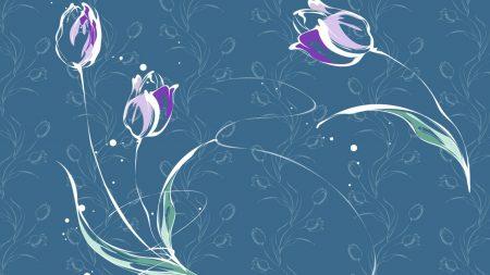 blue, rose, flowers