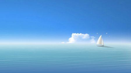 blue, sea, ship