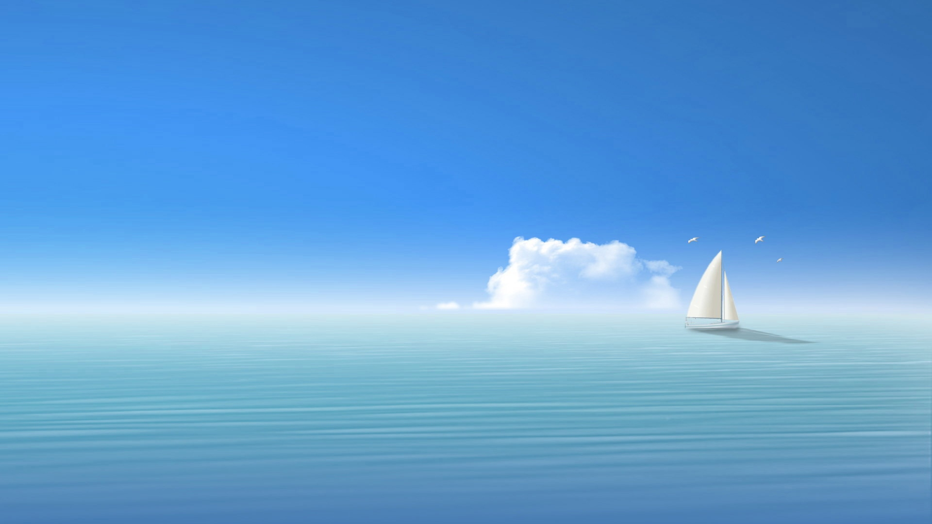 Earnings Disclaimer >> Download Wallpaper 1920x1080 blue, sea, ship, sky Full HD 1080p HD Background
