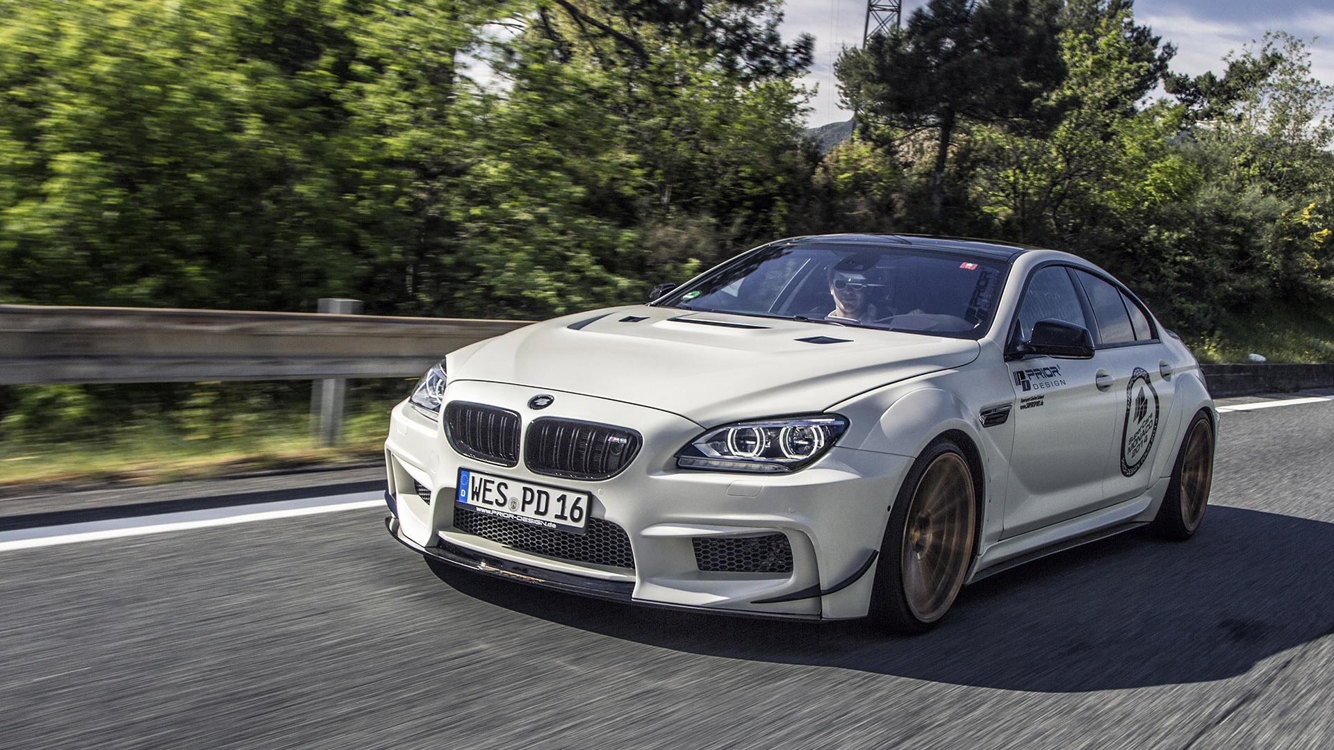 Download Wallpaper 1920x1080 Bmw M6 Gran Coupe Prior Design Tuning Full Hd 1080p Hd Background