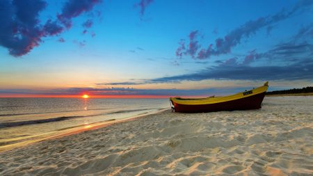 boat, coast, sand