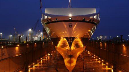 boat, dock, night