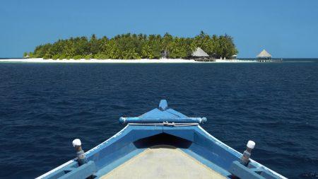 boat, island, ocean