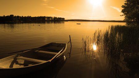 boat, lake, coast