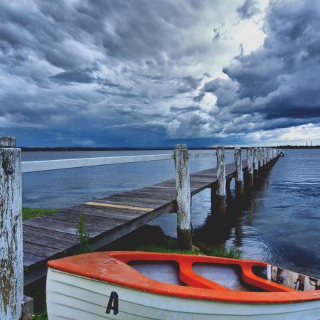 boat, pier, coast