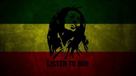 bob marley, flag, smile