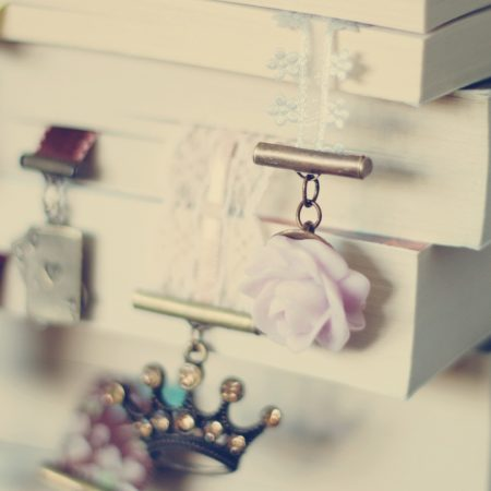 books, bookmarks, ornaments