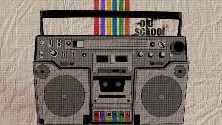 boombox, player, lines
