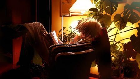 boy, book, anime