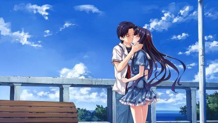 boy, girl, kiss