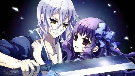 boy, girl, sword