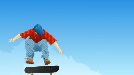 boy, skateboard, jump